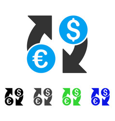 Currency change flat icon vector