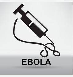 Deadly ebola virus epidemic vector