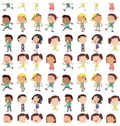 Different emotion kids vector