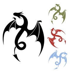 Dragon icon vector
