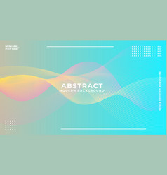 dynamic colorful vibrant wave colorful background vector image
