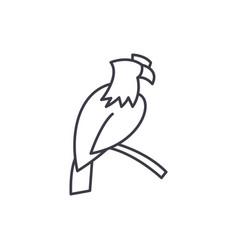eagle line icon concept eagle linear vector image