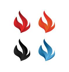 elegant flame icon set vector image