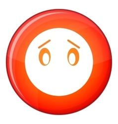 Emoticon flat style vector image
