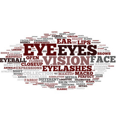 Eye word cloud concept vector