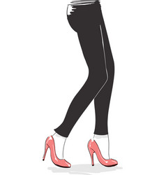 Female legs and heels fashion style vector