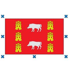 Flag montanya alavesa in basque country vector