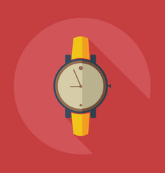 Flat modern design with shadow icons wrist watch vector