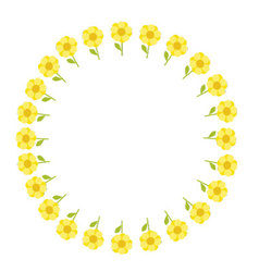 Flowers circle pattern vector