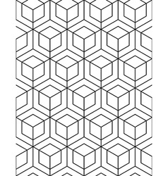 Futuristic abstract geometric seamless pattern vector image