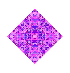 Geometrical colorful ornate tiled mosaic diagonal vector