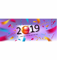 glossy new year background vector image