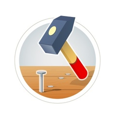 Hammer and nail vector