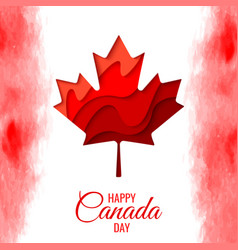 Happy canada day holiday poster vector