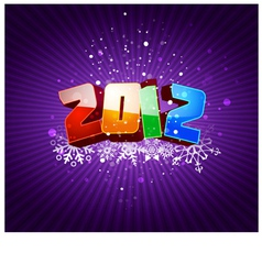 Happy new 2012 year greeting card vector