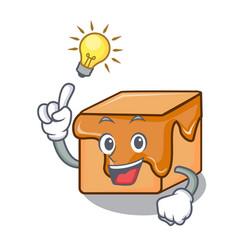 have an idea caramel candies mascot cartoon vector image