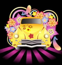hippy car vector image