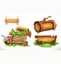 holidays in the summertime a wooden sign can be vector image