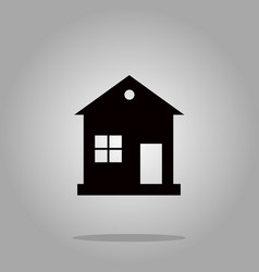 house icon black silhouette on background vector image