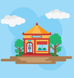 House in chinese style vector