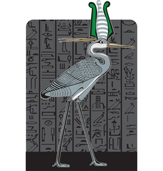 Ibis on dark Egypt background vector image vector image