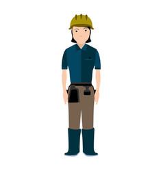 Isolated civil engineer avatar vector