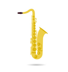 isolated flat icon of saxophone vector image