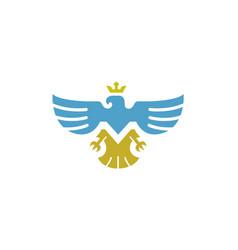 majestic eagle symbol logo vector image