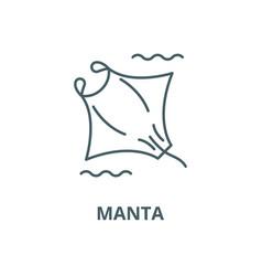 manta line icon linear concept outline vector image