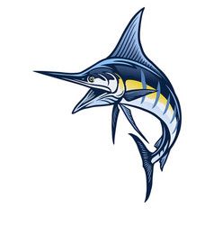 marlin fish mascot vector image