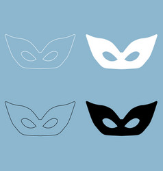 mask the black and white color icon vector image