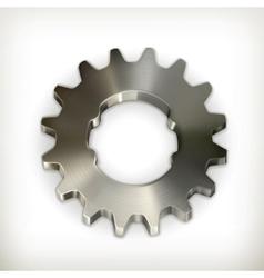 Metal gear icon vector