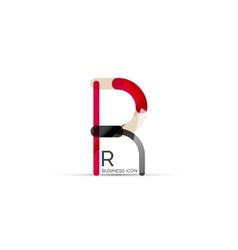 Minimal R font or letter logo design vector