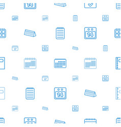 Organizer icons pattern seamless white background vector