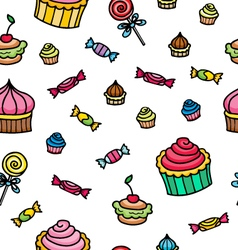 pattern with sweets vector image