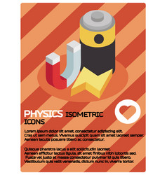 Physics color isomeric poster vector