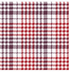 pixel fabric texture check plaid tablecloth vector image