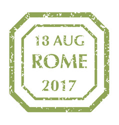 postal stamp from rome vector image