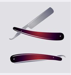 Razor open closed blade vector