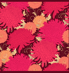 red chrysanthemums vector image