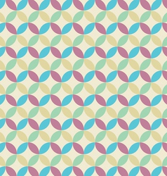 Retro seamless pattern circle vector image