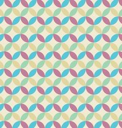 Retro seamless pattern circle vector image