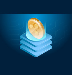 ripple cryptocurrency digital or electronic money vector image