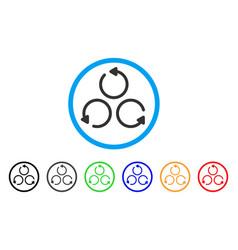 rotation rounded icon vector image
