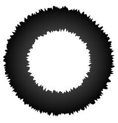 Rough grungy abstract circle element circular vector