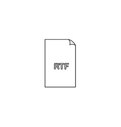 Rtf format document line icon outline sign linear vector