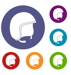 Safety helmet icons set vector