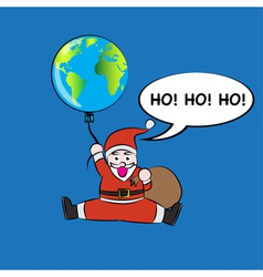 Santa hold balloon vector image