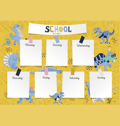 schedule for student in form board vector image