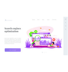 seo optimization landing page template vector image